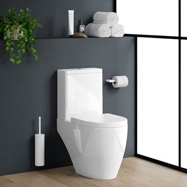 Harbour Clarity Close Coupled Toilet & Soft Close Seat