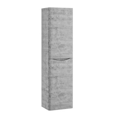 Harbour Clarity 1500mm Wall Mounted Tall Storage Cabinet - Concrete