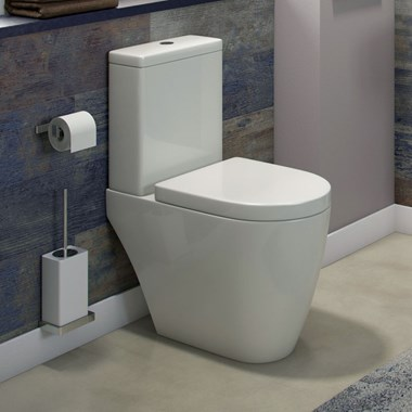 Harbour Clarity Close Coupled Toilet with Soft Close Seat & WRAS Approved Dual Flush Cistern