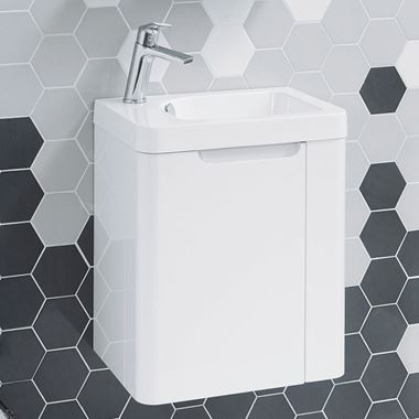 Harbour Compact 450mm Gloss White Vanity Unit & Basin