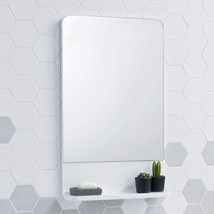 Harbour Compact Gloss White Mirror - 750 x 450mm