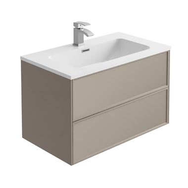 Harbour Form 800mm Wall Mounted Vanity Unit & Basin - French Grey