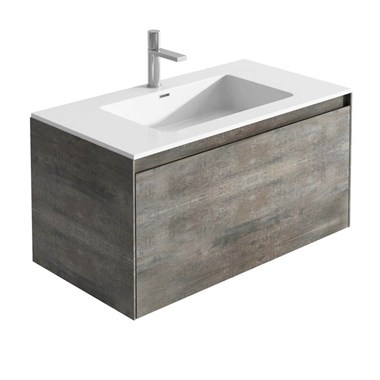 Harbour Substance Wall Mounted 900 Vanity Unit - Concrete