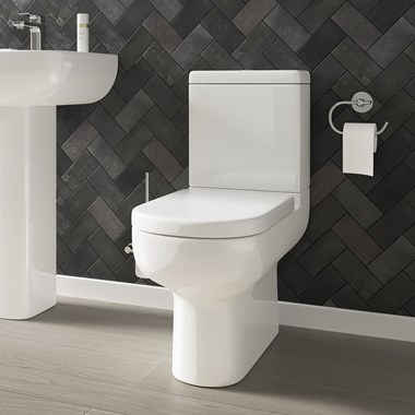Harbour Grace Space-Saving Toilet with Soft Close Seat