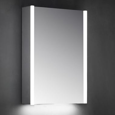 Harbour Icon Single Door LED Bathroom Mirror Cabinet with Shaver Socket - 700 x 500mm