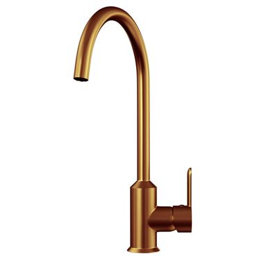 Harbour Icon Single Lever Mono Kitchen Mixer Tap - Brushed Copper