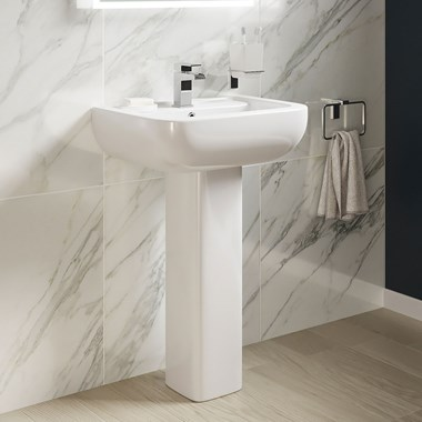 Harbour Icon 550mm 1 Tap Hole Basin & Pedestal