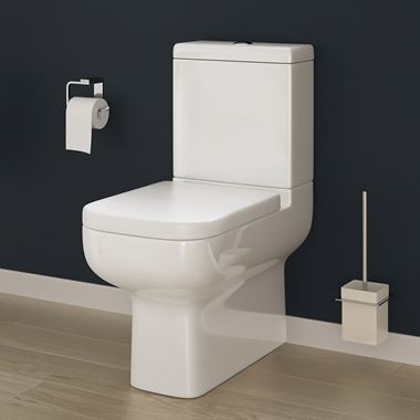 Harbour Icon Fully Back to Wall Toilet with Soft Close Seat