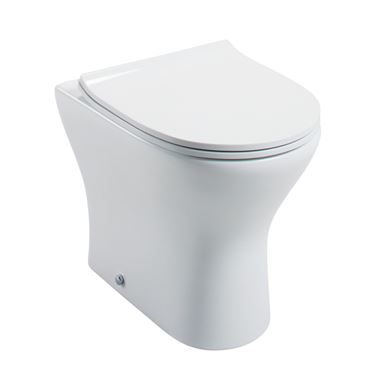 Harbour Identity Round Back to Wall Pan with Wafer Thin Soft Close Seat