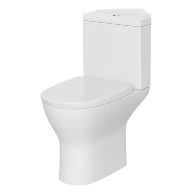 Harbour Identity Corner Toilet with Soft-Close Seat