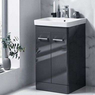 Harbour Identity 500mm Floorstanding Vanity Unit & Basin - Wolf Grey