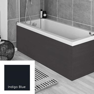 Harbour Indigo Blue 1700mm Vinyl Wrap Bath Panel