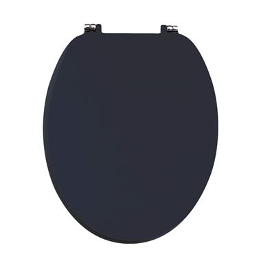 Harbour Indigo Blue Vinyl Wrapped Soft Close Wooden Toilet Seat