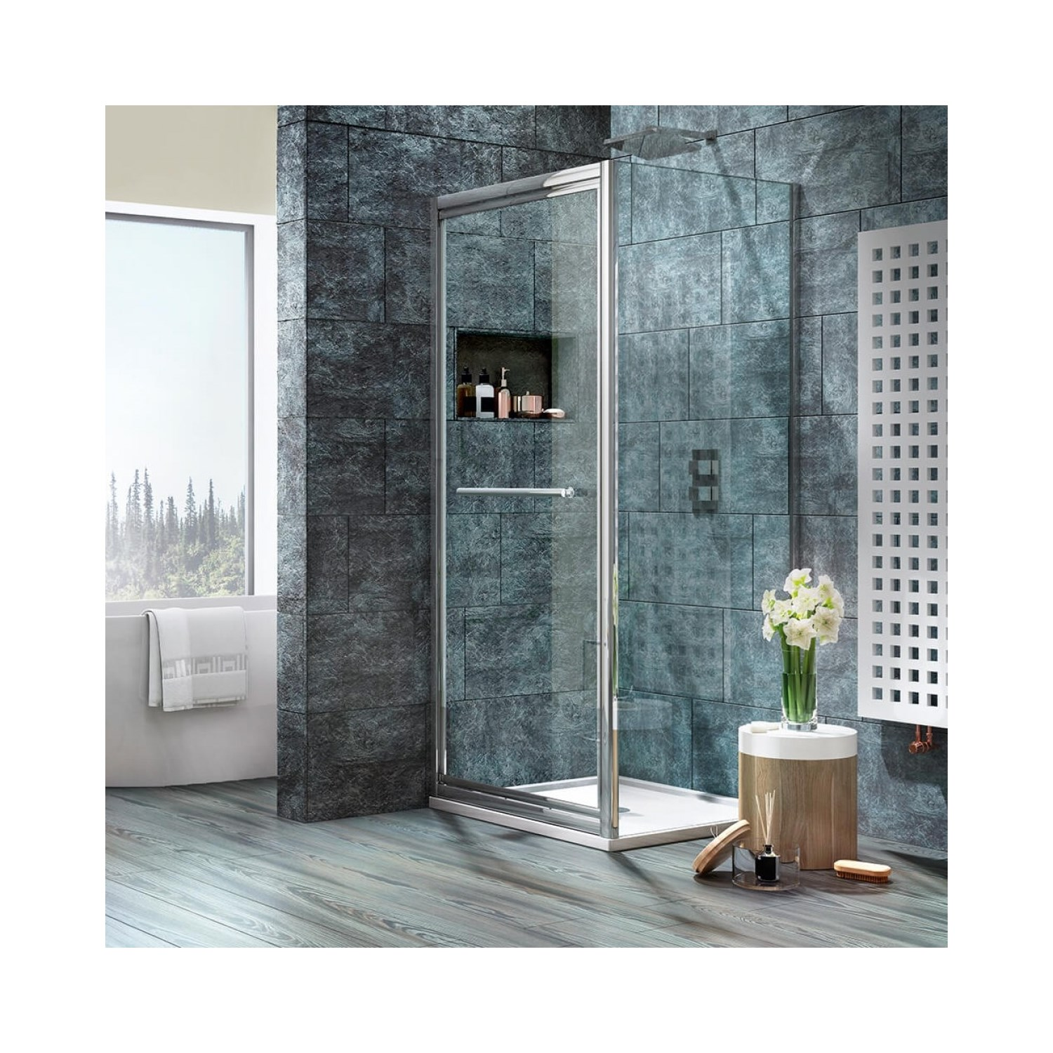 Harbour I8 Infold Shower Door 750 790mm Tap Warehouse