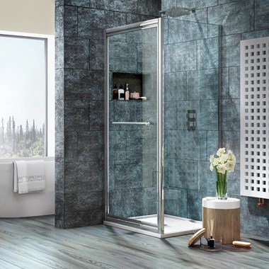Harbour i8 Easy Clean Infold 8mm Shower Door & Optional Side Panel