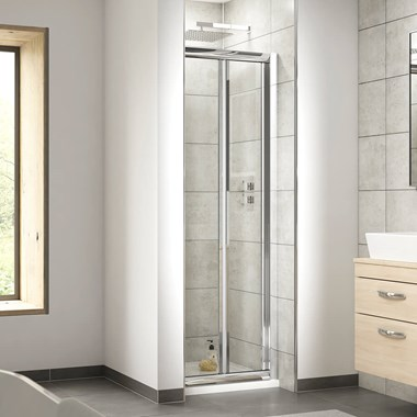 Harbour Primrose 6mm Bi-Fold Shower Door & Optional Side Panel