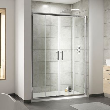 Harbour Primrose 1400 Double Sliding Shower Door - 6mm Glass