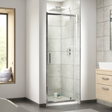 Harbour Primrose 6mm Pivot Shower Door & Optional Side Panel