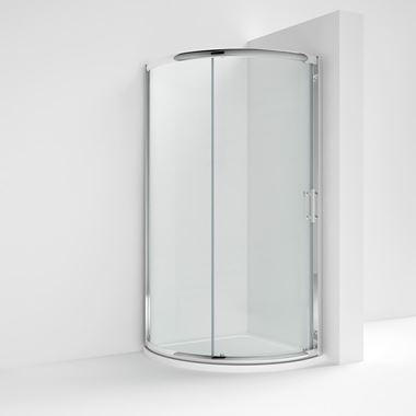 Harbour Primrose 6mm Single Door Quadrant Shower Enclosure & Tray - 860mm
