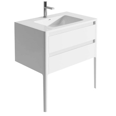Harbour Serenity 790mm Floorstanding Vanity Unit & Basin - Gloss White