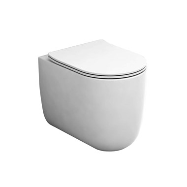 Harbour Status Rimless Back to Wall Toilet and Wafer Thin Soft Close Seat - 520mm Projection