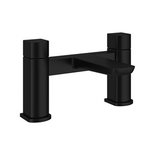 Harbour Status Matt Black Bath Mixer Tap