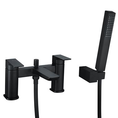 Harbour Status Matt Black Bath Shower Mixer Tap