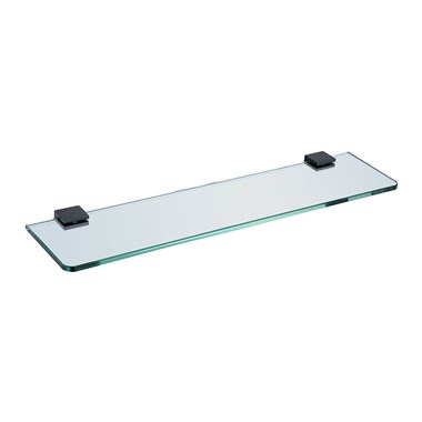 Harbour Status Matt Black Glass Shelf