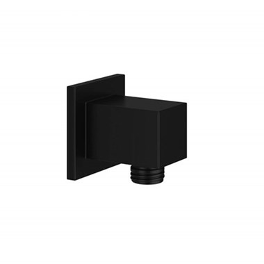 Harbour Status Matt Black Shower Outlet Elbow