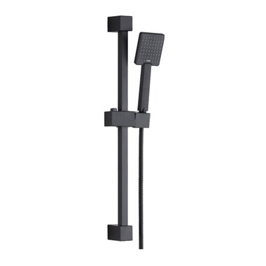 Harbour Status Matt Black Shower Riser Rail