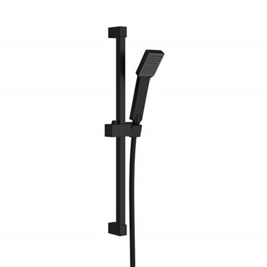 Harbour Status Matt Black Shower Riser Rail Kit