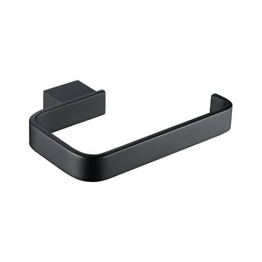 Harbour Status Matt Black Toilet Roll Holder