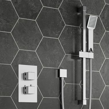 Drench Harley Concealed Thermostatic Shower Valve & Slide Rail Kit
