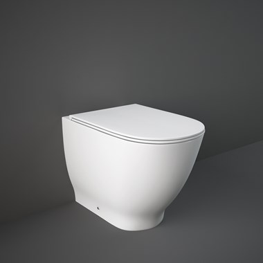 RAK Harmony-Moon Back to Wall Rimless Toilet with Soft Close Seat