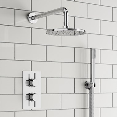 Drench Harper Concealed Shower Valve, Fixed Shower Head & Handset
