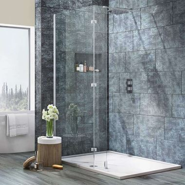 Harbour i8 8mm 2m Tall Easy Clean Wetroom & Fixed Return Panel