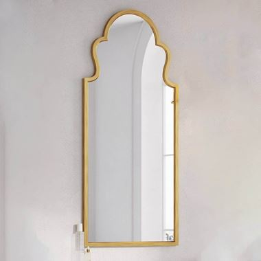 Butler & Rose Aged Brass Mirror - 500 x 830mm