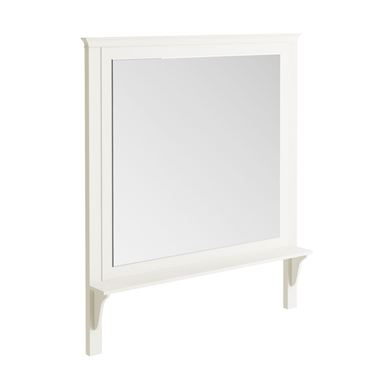 Butler & Rose Mirror with Shelf & Almond White Frame - 1200 x 1400mm