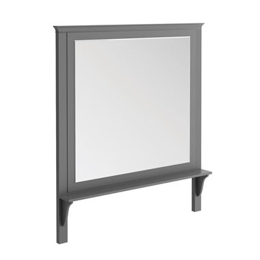 Butler & Rose Mirror with Shelf & Spa Grey Frame - 1200 x 1400mm