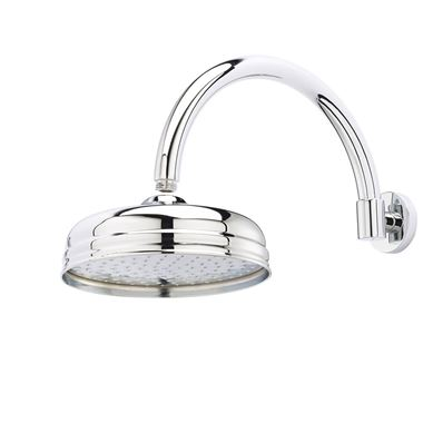 Butler & Rose Victoria 195mm Traditional Fixed Apron Shower Head & Shower Arm