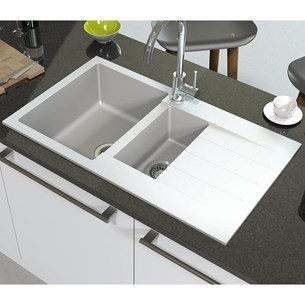Astracast Helio 1.5 Bowl Granite ROK® Composite Sink & Waste Kit with Reversible Drainer - 860 x 500mm