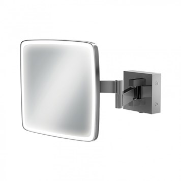 HiB Eclipse Square LED Illuminated Magnifying Mirror - 180 x 180mm