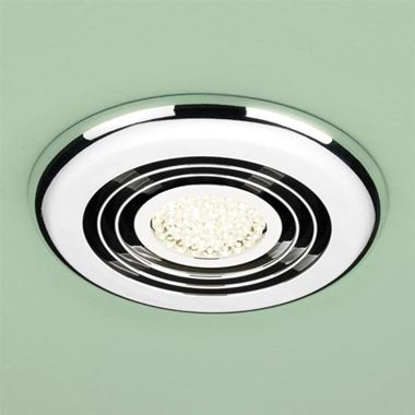 HIB Cyclone LED Illuminated Illuminated Inline Ceiling Fan - Chrome