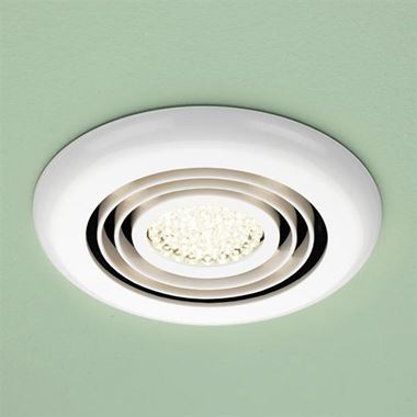 HIB Cyclone LED Illuminated Illuminated Inline Ceiling Fan - White