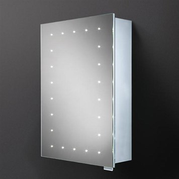 HIB Vogue Steam Free LED Illuminated Mirror Cabinet with Shaver Socket