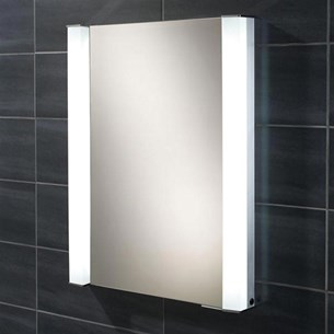 HIB Parity Fluorescent Lit Mirror Cabinet with Shaver Socket