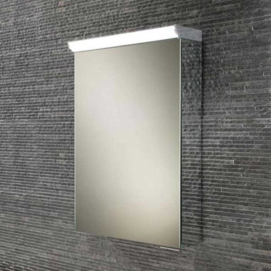 HIB Flux LED Illuminated Mirror Cabinet with Shaver Socket