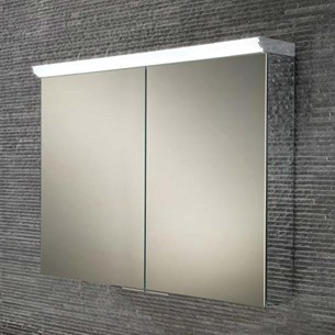 HIB Ember 80 LED Illuminated Mirror Cabinet with Shaver Socket