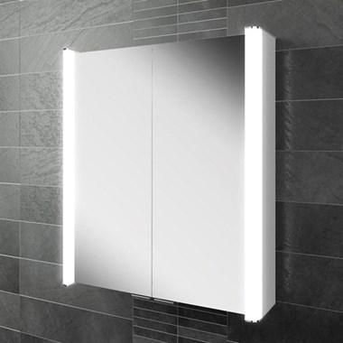 HIB Vita 60 LED Illuminated Mirror Cabinet with Shaver Socket