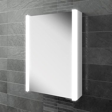 HIB Vita 50 LED Illuminated Mirror Cabinet with Shaver Socket
